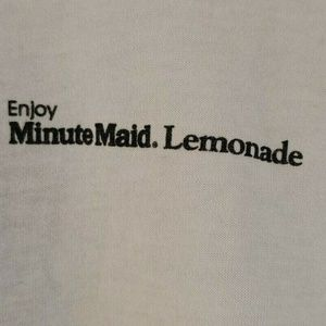 Vintage Shirts - VTG Minute Maid Lemonade Logo T Shirt Promotional